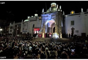 Pope Francis at San Francisco de Quito Church