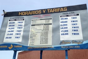 Puntarenas to Paquera Ferry Schedule