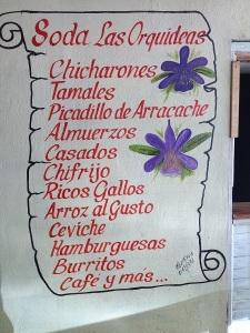 Soda Las Orquidas Menu 450 px