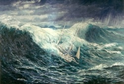Caird at sea painting