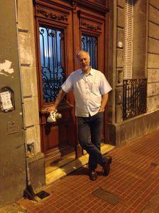 Brian at Apartment Front Door - BA