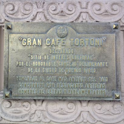 Cafe Tortoni Plaque