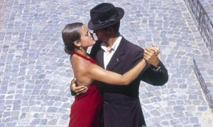 Tango Couple - Red Dress & Fedora