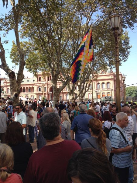 BA - Demonstration at Casa Rosada