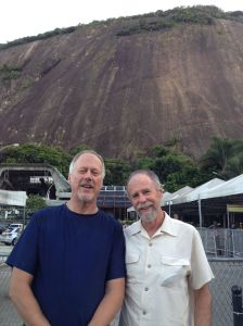 Brian and Frank at the Base of Sugarloaf