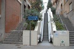 Park Guell Escalator - From Below