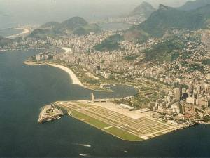 View of Rio from Above Santos Dumont Airport