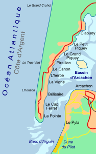 Cap Ferret Map