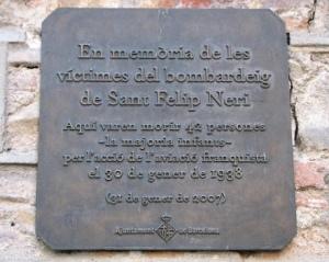 Memorial Plaque- Placa Sant Felip Neri