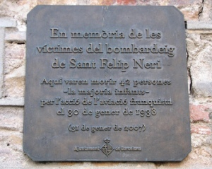 Memorial Plaque- Placa Sant Felip Neri