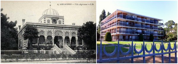 Villa Algerienne and Modern Apartment building
