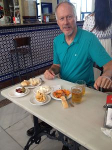 Brian - Tapas at Jerez Rail Station