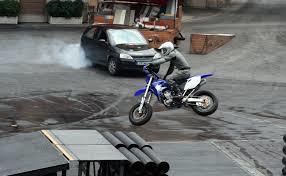 Disney motorcycle front wheelie