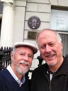 Frank & Brian at Oscar Wilde House - Dublin