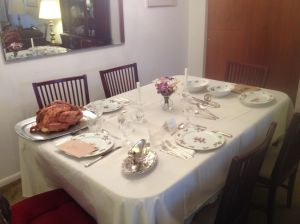 Thanksgiving Dinner - Table All Set