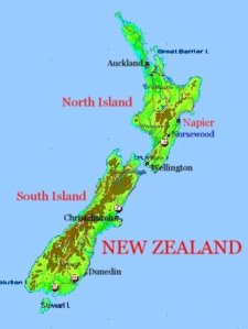 New Zealand Map With Napier