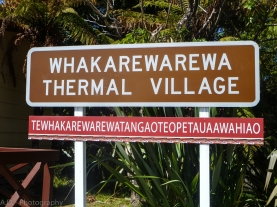 Whakarewarewa Thermal Village Sign