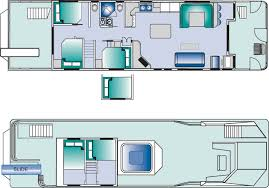 Houseboat floorplan