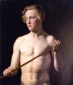 Male Nude by Christoffer Wilhelm Ecersberg (1783-1853)