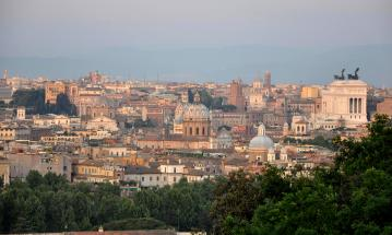 View of Rome from Janiculum Hill