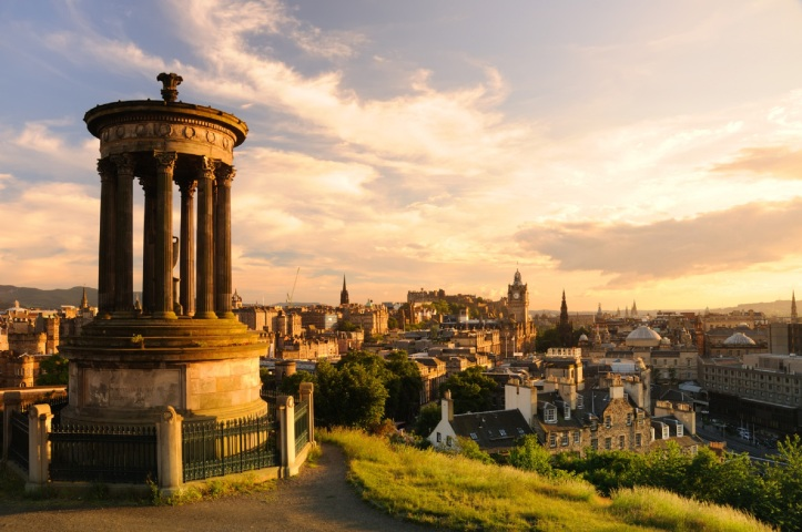 Edinburgh City View at Sunset