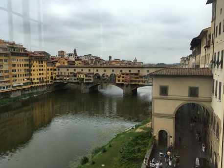 View of the Ponte Veccio from the Uffizi Gallery