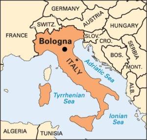 Italy Map - Bologna