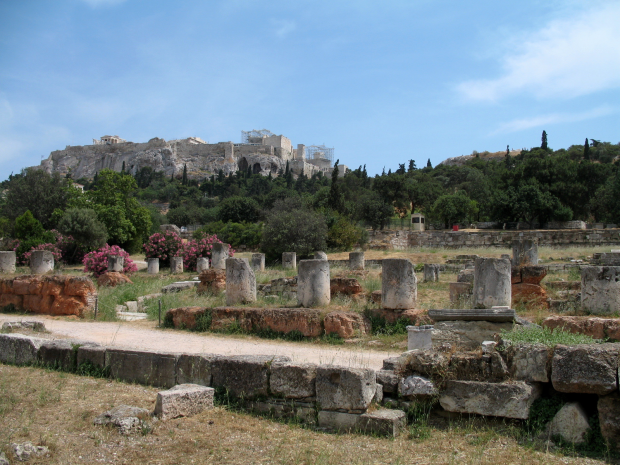 Acropolis with Ancient Agora in Foreground