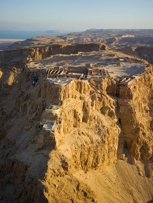 Aerial View of Masada