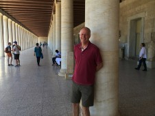 Brian at the Stoa of Attalos