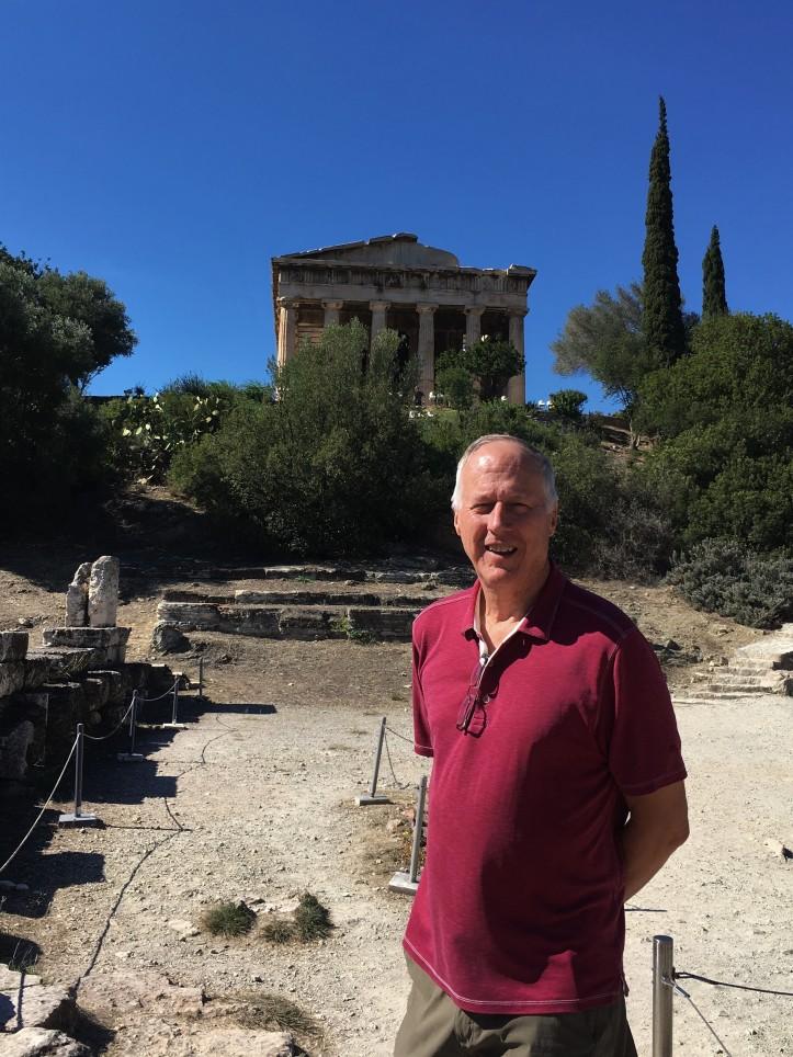 Athens - Agora - Brian at Temple of Hephaestus