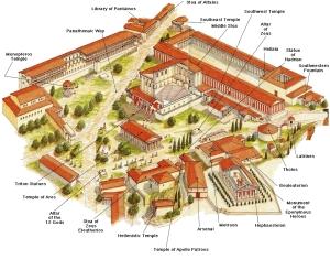 Athens - Ancient Agora Schematic