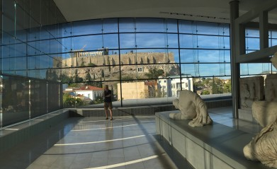 Athens - Brian at the Acropolis Museum
