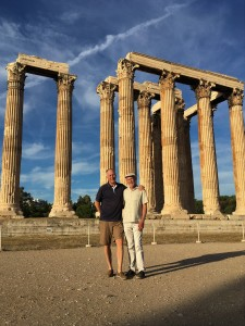 Athens - Brian & Frank at Temple of Zeus