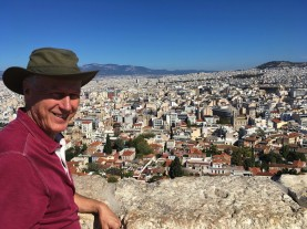 Brian with Pano from atop Acropolis