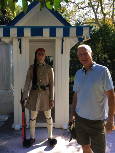 Athens - Brian with Presidential Guard