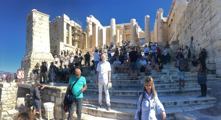 Athens - Frank at Parthenon