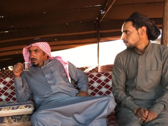 Bedouin hosts in conversation