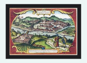 Buda & Pest - Antique Map