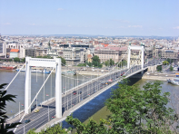 Elizabeth Bridge Budapest - Looking Toward Pest