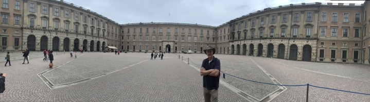 Brian in the courtyard of the Royal Palace