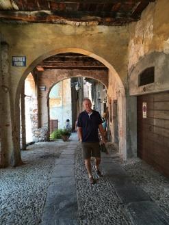 Brian in the town of Orta San Giulio