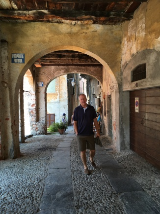 Brian in the town of Orta San Giulio