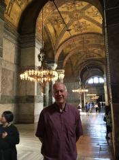 Brian in Hagia Sophia