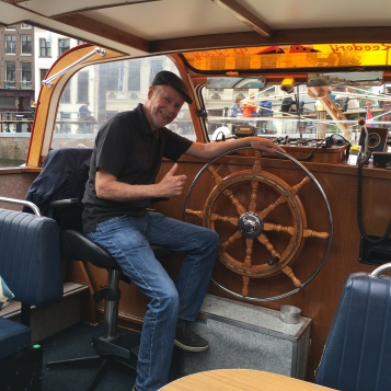 Cap'n Frank at the helm