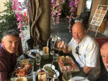 Dave & David at lunch, Orta San Giulio