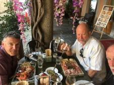 Dave & David at lunch, Orta San Giulio