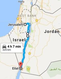 Israel Desert Map