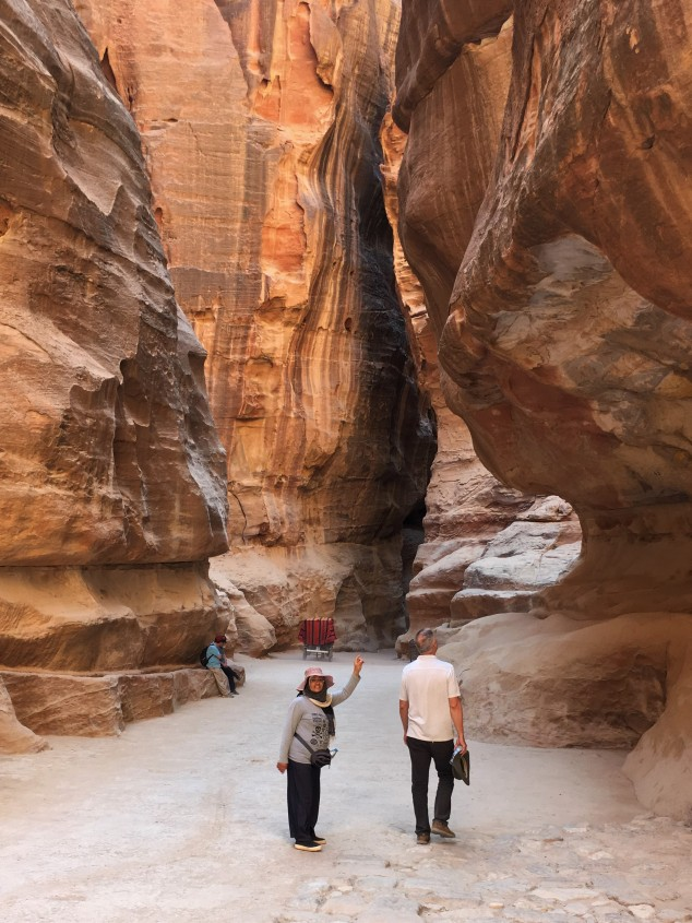 Jordan - Brian & Our Guide on Road Into Petra 2