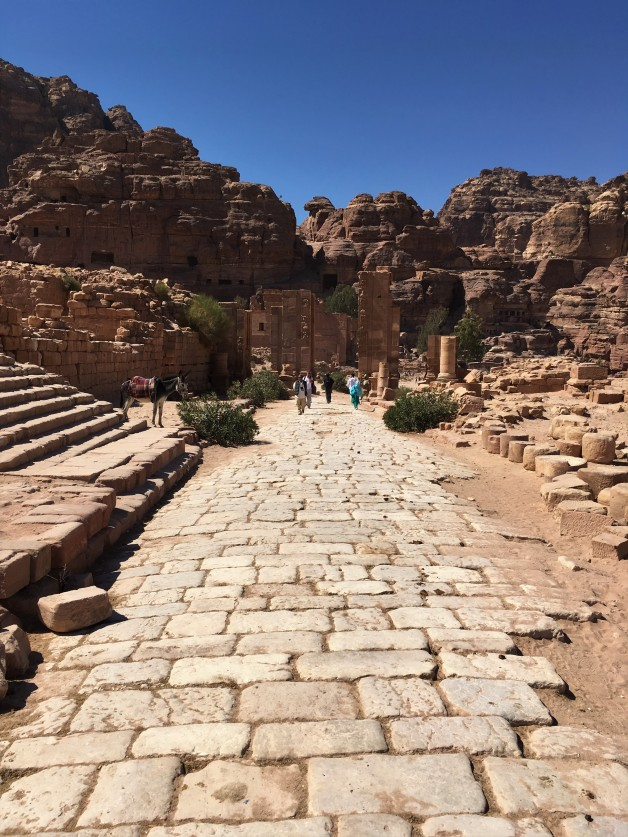 Jordan - Petra - Remains of Roman Road